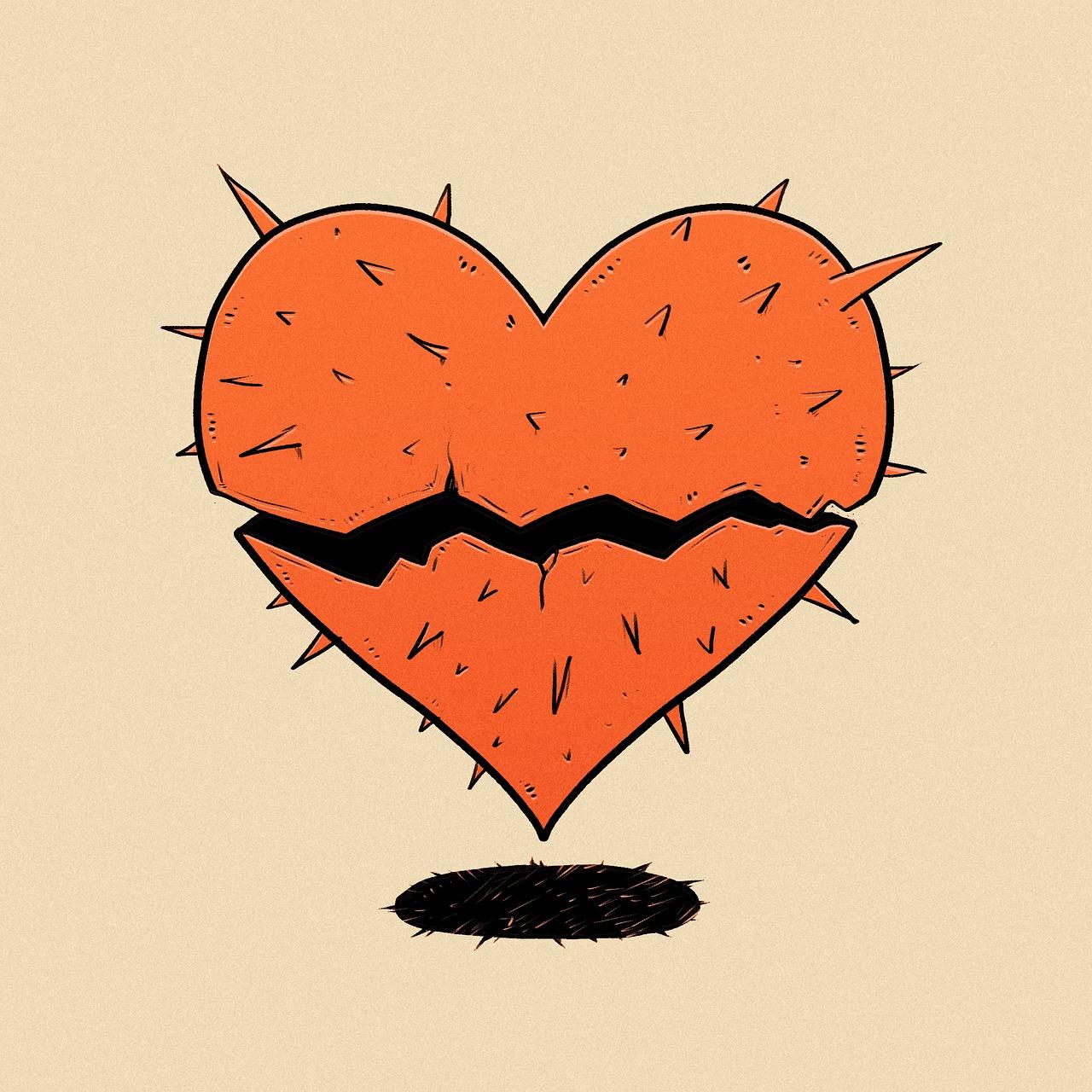 coração sofrimento