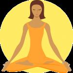 ilustração meditação